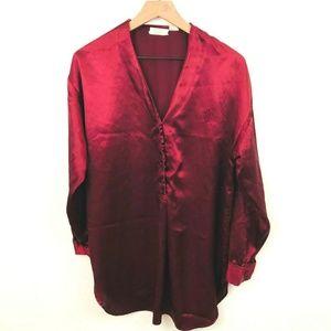 Victoria's Secret Vintage Satin Tunic Pajama Top
